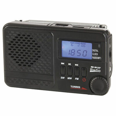 NEW BRAND Portable AM/FM/SW radio with built-in MP3 player and digital clock