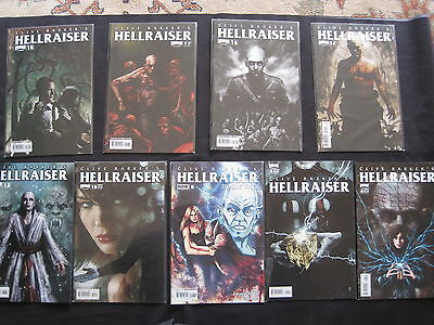 CLIVE BARKER'S HELLRAISER : BUNDLE of 10 ISSUES. PINHEAD. VERY GORY! 2011 BOOM