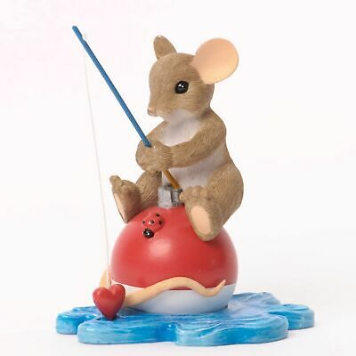 "Charming Tails Mouse 3.5"" Father Dad, I Would Be Sunk Without You #4035260 NIB"