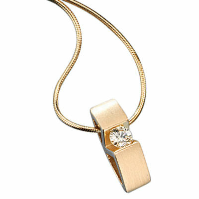 Women's Necklace with Diamond, 585 Gold Matte, Necklace