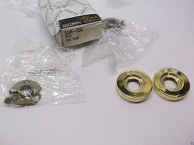 (2) Baldwin 5006-030  POLISHED BRASS   H52 SKU 5