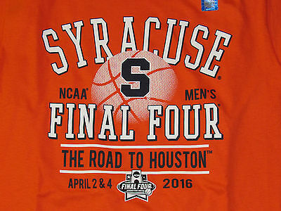 2016 FINAL FOUR Basketball Syracuse Orange SU Mens Adult T Shirt SZ S M L XL 2X
