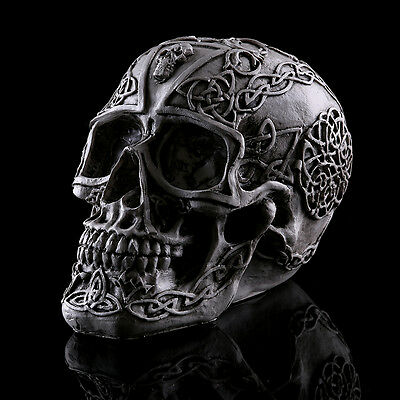Light Demon Skull Ghost Evil Skeleton Head Resin Figurine Halloween figure gift