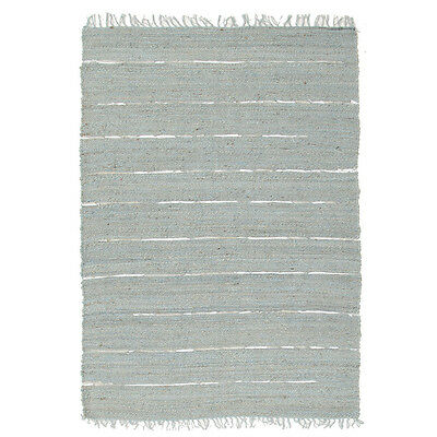 New Saville Jute and Leather Blue MODERN Rugs Network Hand Woven Multi dimension