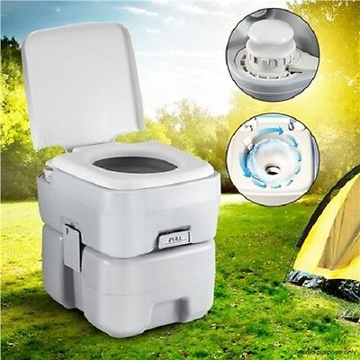NEW Portable 20L Flushing System Water Tank Outdoor Camping Restroom Toilet Grey
