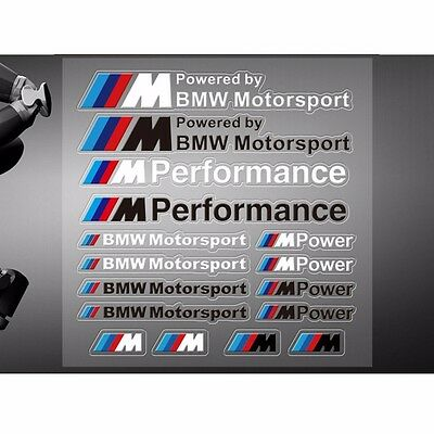///M Performance Power Motorsport Car Stickers And Decals Kit For BMW