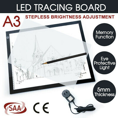A3 Ultra Thin LED Light Art Design Stencil Drawing Pattern Tracing Pad Lightbox