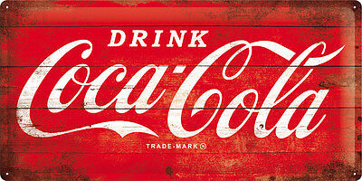 COCA COLA Blechschild XXL 25x50 cm DRINK COLLAGE KNALLROT Schild Sign 27005