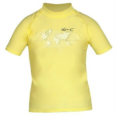 iQ UV 300 Shirt Youngster Ocean yellow