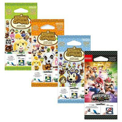 Nintendo amiibo Animal Crossing Karten Serie 1 2 3 4 New Leaf Mario Sports