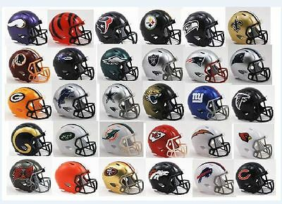 **new**nfl American Football Riddell Speed Pocket Pro Helmets All 32 You Choose