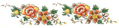 Ceramic decals summer flowers 10 sheets of 8 pictures
