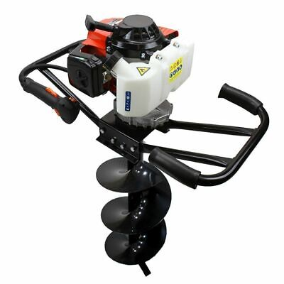 "3HP 63cc EPA Gas Earth 2 Man Post Hole Digger 2 Person Machine + 10"" Auger Bit"