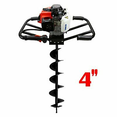 "3HP 63cc EPA Gas Earth 2 Man Post Hole Digger w 4"" Auger Bit Machine 2 Person HD"