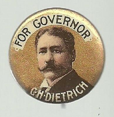 Dietrich For Governor Vintage Nebraska Political Campaign Pin