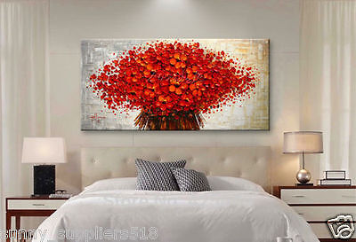 Modern Huge Abstract Oil Painting On Canvas decor Wall:red tree (No Framed)