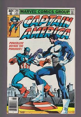 Captain America # 241  Powerless Before the Punisher !   grade 8.0 scarce book !