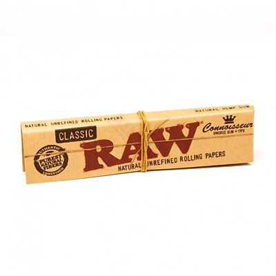 Raw Classic King Size Slim Connoisseur Rolling Paper + Tips  Smoking Tobacco