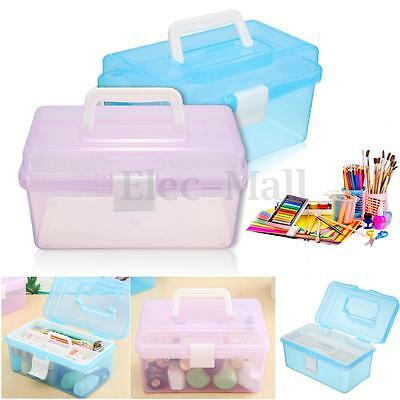 New Multi-function Plastic 2 Layer Storage Containers Case Box Organizer Tool