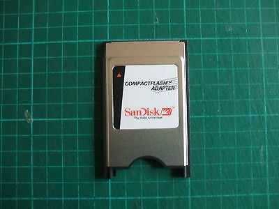 Sandisk Laptop PCMCIA  PC CF Compact Flash Memory Card Reader Adapter (UK Stock)