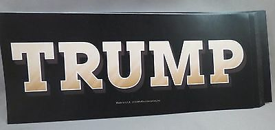 WHOLESALE LOT OF 10 Gold TRUMP BUMPER STICKERS DECAL FOR PRESIDENT 2016 USA BILL