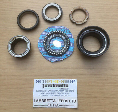 Fork Steering - Cup Cone Racer Set. Including Bearings. For Lambretta Gp New