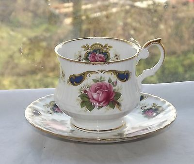 Rosina Queens Fine Bone China Cup and Saucer Pink Roses