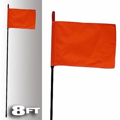 FIRESTIK F8-BLACK-8120R Black Fire Stick W/orange Safety Flag - 8ft