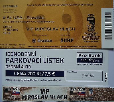 Memorabilia VIP TICKET Eishockey WM 20.5.2018 Kanada USA in Dänemark