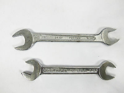 Lot Of 2 Vintage Open End Combination Assorted Wrenches No Name Made in the USA