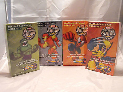 Marvel Super Hero Squad Set Of 4 Starter/preconstructed Deck