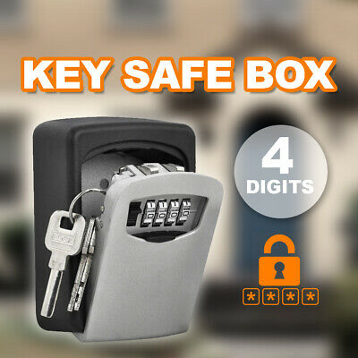 Wall Mounted High Security Steel Storage 4 Digit Key Box With Combination Lock
