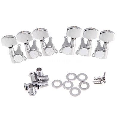 3R 3L Chrome Electric Acoustic Guitar String Tuning Pegs Machine Heads S6Y2