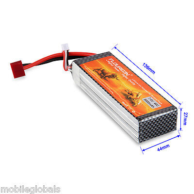 2S 7.4V 8000mAh 40C Li-Po Battery for RC Airplane Helicopter Hobby Deans plug