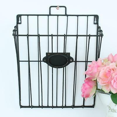 Boutique Magazine Letter Storage Rack Holder Country Homes Shabby Chic Vintage