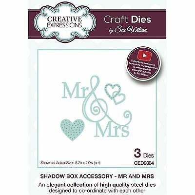 Sue Wilson Shadow Box Accessory Mr And Mrs Die Set By Creative Expressions &