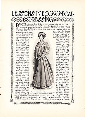 1908 Women's Fashion Article: Lessons in Economical Dressing