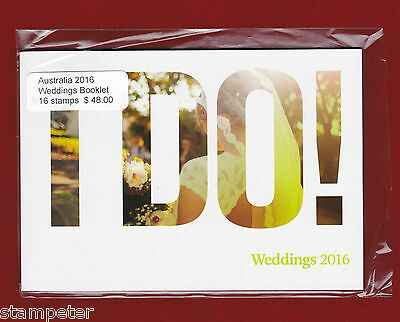 2016 Australia Weddings 16 stamps Prestige Booklet