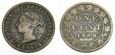 Canada 1886 Large One Cent Queen Victoria Fine 15