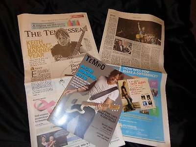Keith Urban *2014 Tennessean Article+'10 ACM Magazine Cover+'05 Be Here Calendar