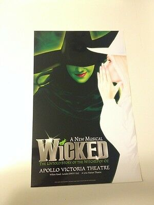WICKED London Window Card Poster -- Original -- MINT CONDITION