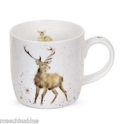 Royal Worcester Wrendale Wild At Heart Stag Mug Gift Boxed NEW