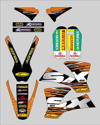 Ktm Sx 65 2002 - 2008 Graphics Kit Decal Stickers