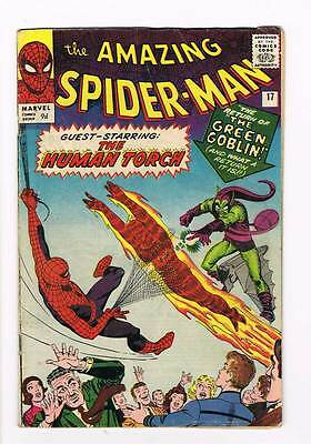 Amazing Spider-Man # 17  Return of the Green Goblin !  grade 4.5 scarce book !