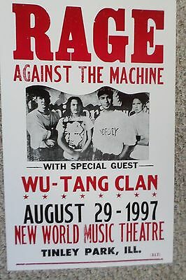 Rage Against The Machine with special guest Wu-Tang Clan Poster Print