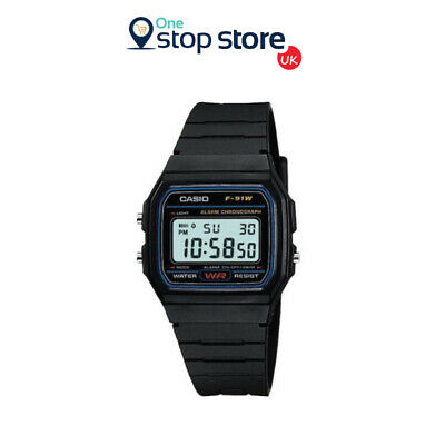 Casio F-91W Watch Classic Digital Casio F91W Sports Watch Chronograph Original