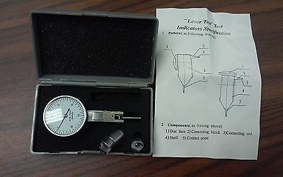"0.03"" x 0.0005"" dial test indicator white face with 2 pcs accessories #303- NEW"