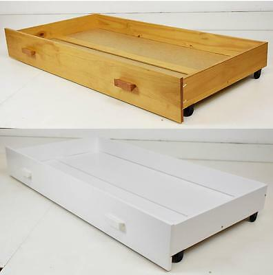 New Babystart Delfina Under Cot Cotbed Drawer on Castors in Pine or White