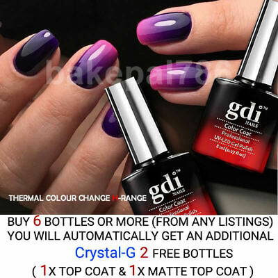 gdi Nails,THERMAL COLOUR CHANGE,UV/LED Soak Off Gel Nail Polish,100% UK BRAND