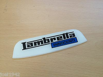 "Lambretta Rear Frame Badge. Innocenti "" Blue"" . Brand New"